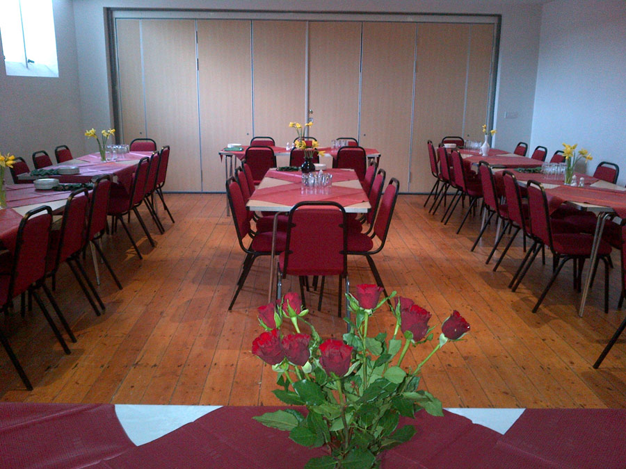 Community Hall on Valentine's Day