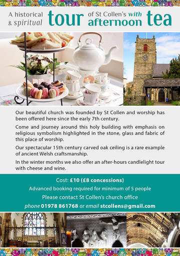 Afternoon Teas now available at St. Collen's Church, Llangollen